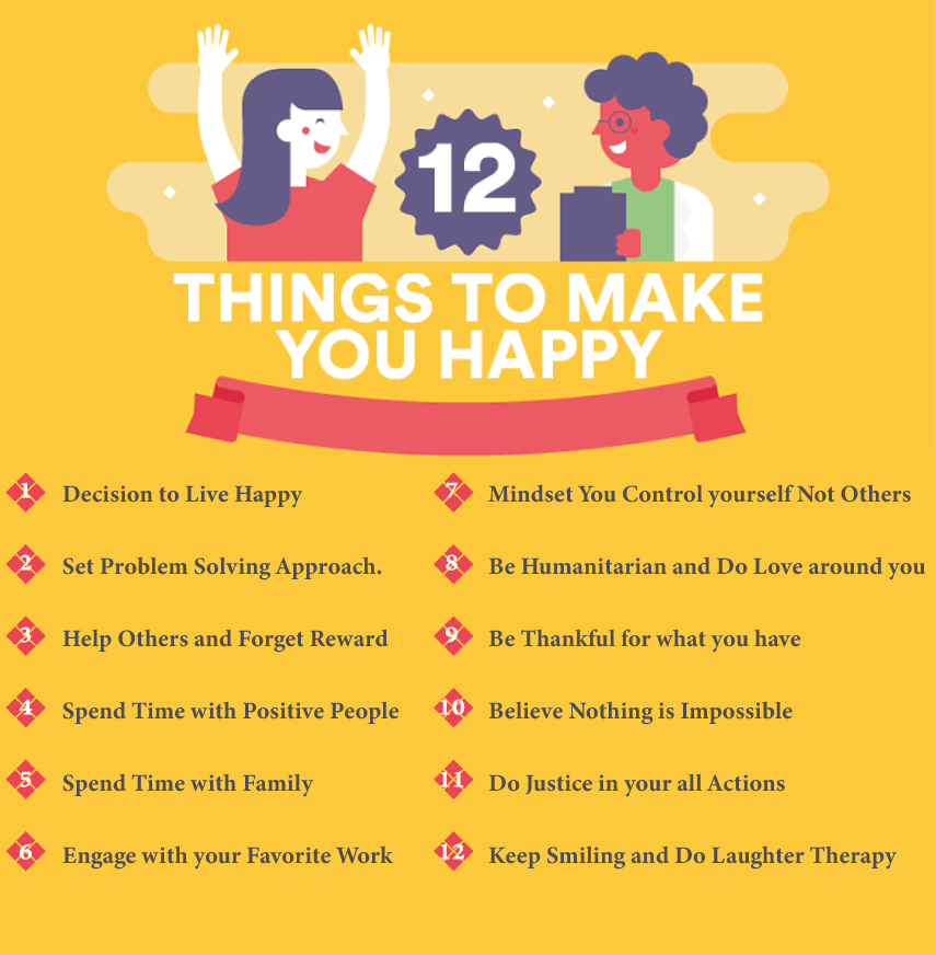 12 THINGS TO MAKE YOU HAPPY
