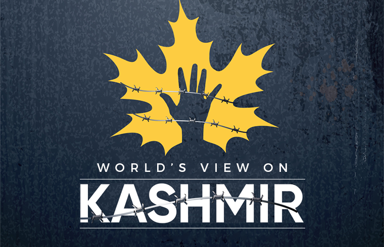 Photo of World's View on Kashmir Issue !