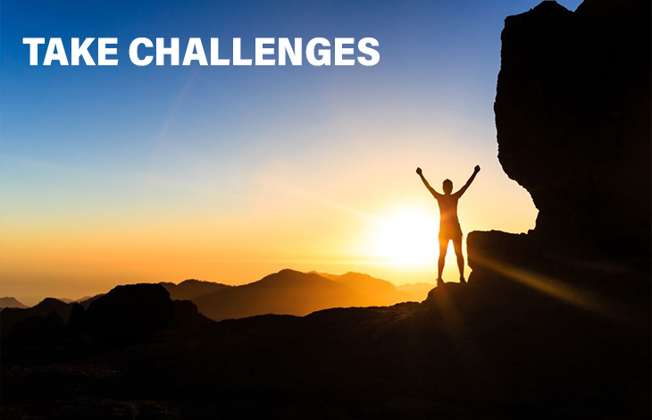 Take Challenges: Great Leader