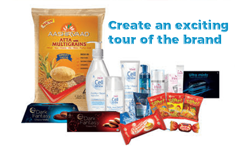 Create an exciting tour of the brand