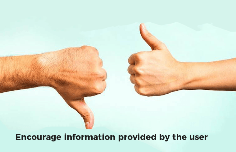 26 Most important tips to boost your sales: Encourage information provided by the user