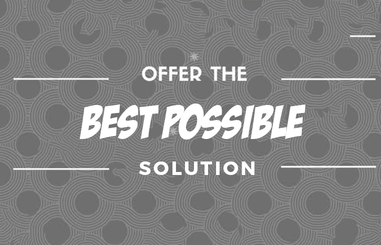 Offer Best Possible Solution