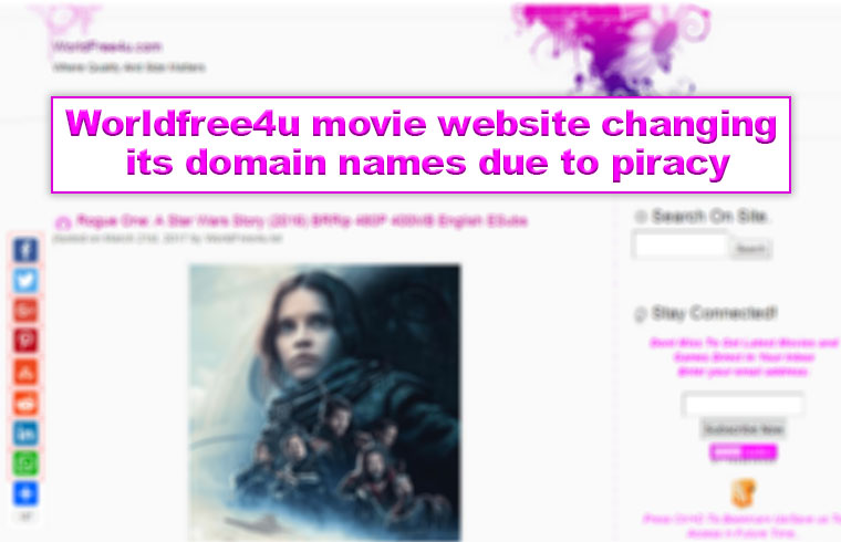 Photo of Worldfree4u movie website changing its domain names due to piracy