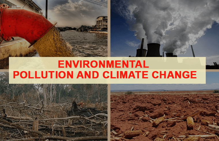 health issues globally : Environmental pollution and climate change