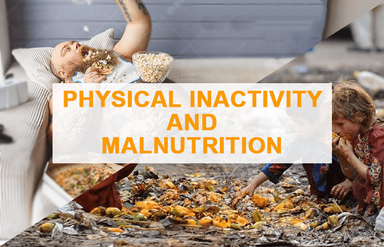 health issues globally : Physical inactivity and Malnutrition