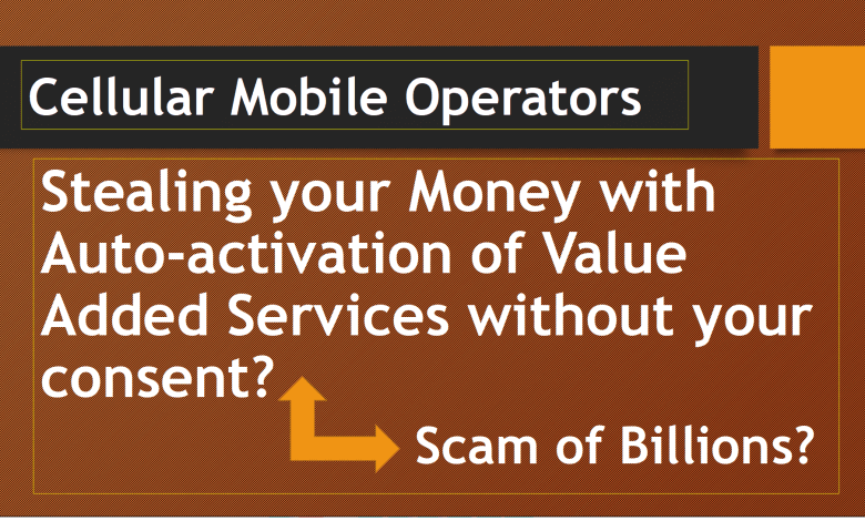Mobile Operators Stealing your Money